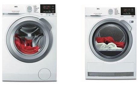 Set (Automatická pračka AEG ProSense™ L6FBG68SC) + (Sušička prádla AEG AbsoluteCare® T8DEG48SC) + DOPRAVA ZDARMA