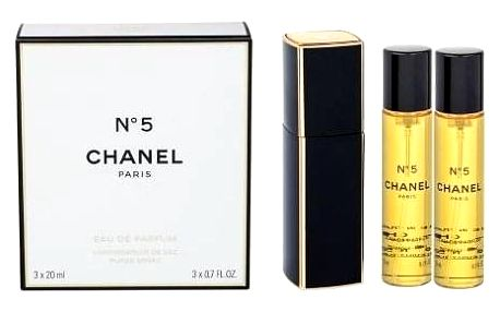 Chanel No.5 3x 20 ml 20 ml parfémovaná voda Twist and Spray pro ženy