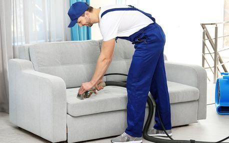 Extrakční čistění čalouněných sedacích souprav