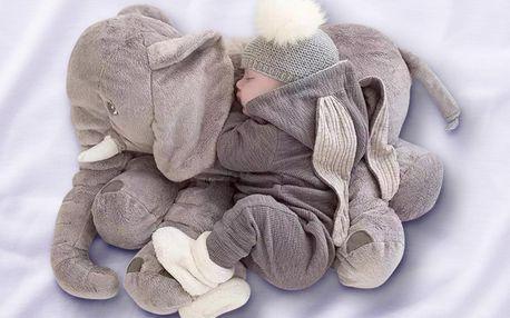 Spánek jako v bavlnce: velké slůně z mikroplyše