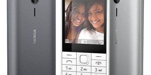 Mobilní telefon Nokia 230 Dual SIM bílý (A00026951)5
