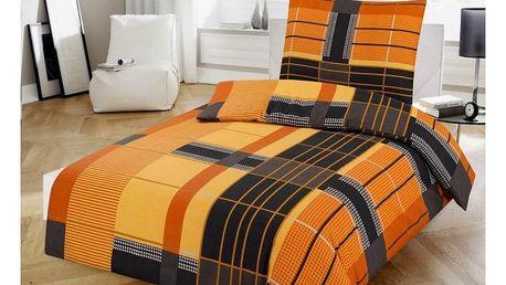 Jahu Bavlněné povlečení Orange, 140 x 200 cm, 70 x 90 cm