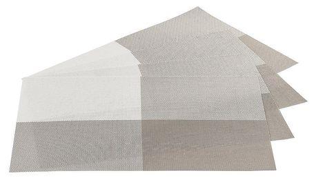 Jahu Prostírání DeLuxe šedá, sada 4 kusů, 30x45 cm