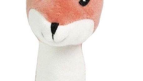 Kids Concept Dětské chrastítko Little Fox, oranžová barva, bílá barva, plast, textil