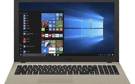 """Asus X540UB-DM195T černý/zlatý i5-8250U, 8GB, 256GB, 15.6"""", Full HD, DVD±R/RW, nVidia MX110, 2GB, BT, CAM, W10 Home (X540UB-DM195T)"""