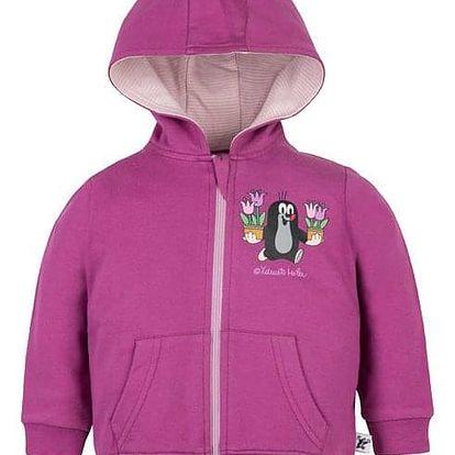 G-MINI Krtek Tulipán Mikina s kapucí vel. 62, růžová, holka
