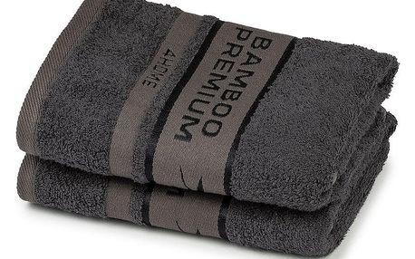 4Home Bamboo Premium ručník tmavě šedá, 50 x 100 cm, sada 2 ks