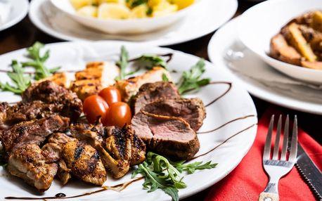 Tříchodové menu pro 2: salát i grilované maso