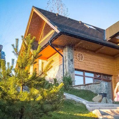 Oddych pre celú rodinu či partiu v domčekoch s výhľadom na Tatry