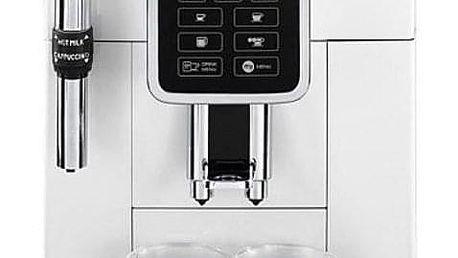 Espresso DeLonghi Dinamica ECAM 350.35W bílé + dárky Příslušenství DeLonghi Skleničky espresso + Káva zrnková DeLonghi Kimbo Classic 250g v hodnotě 358 Kč + DOPRAVA ZDARMA