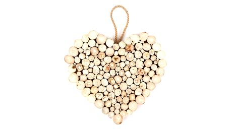Závěsná dekorace Dřevěné srdce Fermé