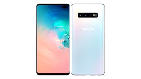 Mobilní telefon Samsung S10+ 128 GB (SM-G975FZWDXEZ) bílý Sluchátka Samsung AKG Y500 černá + DOPRAVA ZDARMA