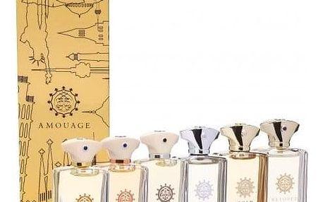 Amouage Mini Set Classic Collection dárková kazeta pro muže 6x 7,5 ml edp Gold + Dia + Silver + Reflection + Jubilation XXV + Beloved