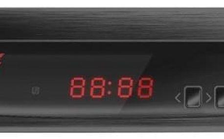 Set-top box Zircon FIRE s DVB-T2 s HEVC (H.265) černý