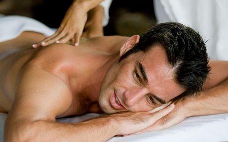 90 minut pro muže: thajská masáž, lázeň a pivo