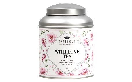 TAFELGUT Ovocný čaj With love tea - 130gr, růžová barva
