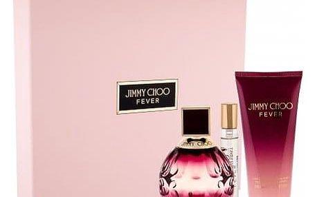 Jimmy Choo Fever dárková kazeta pro ženy parfémovaná voda 100 ml + tělové mléko 100 ml + parfémovaná voda 7,5 ml