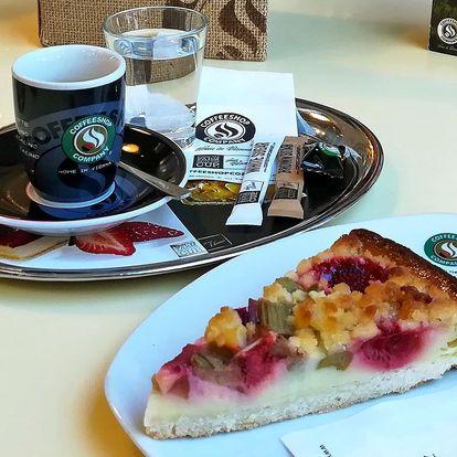 Příjemné posezení: káva a koláč pro 1 nebo 2