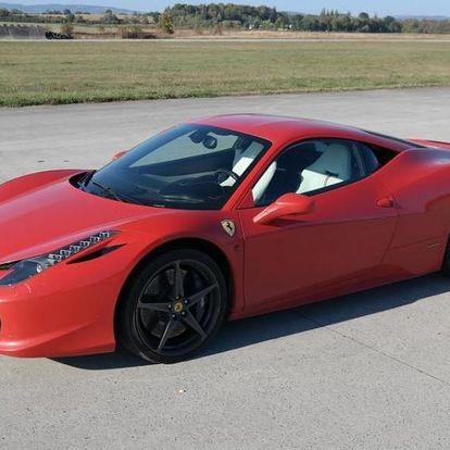 Jízda ve Ferrari 458 Italia v Čechách