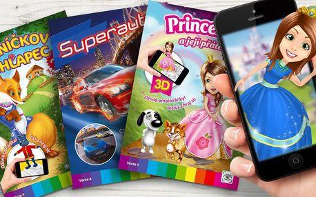 3D i 4D omalovánky pro děti s mobilní aplikací