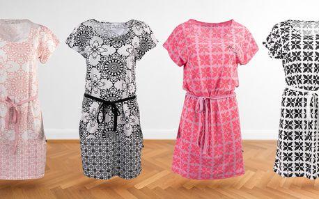 Pohodlné dámské šaty Alpine Pro s originálními vzory