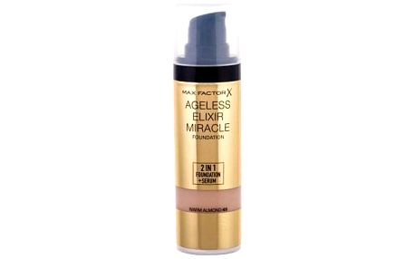Max Factor Ageless Elixir 2in1 Foundation + Serum SPF15 30 ml makeup a sérum 2 v1 pro ženy 45 Warm Almond