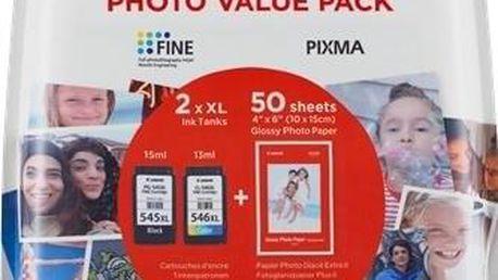 Canon PG-545XL/CL-546XL, 400/300 stran, Photo Value Pack, CMYK, (8286B006)