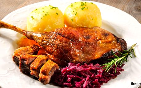 Valašská večeře pro 2: polévka a halušky či kachna