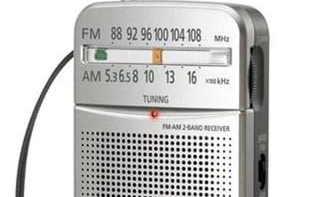 Radiopřijímač Panasonic RF-P50DEG-S stříbrný (RF-P50DEG-S)