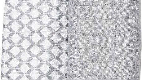 MOTHERHOOD Premium bambusové pleny 100x120 (2 ks) - Classics šedé