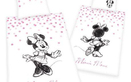 Herding Dětské bavlněné povlečení Minnie, 140 x 200 cm, 70 x 90 cm