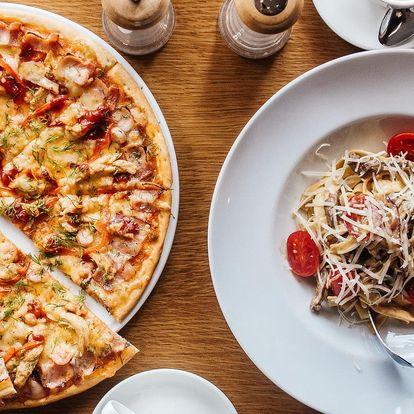 Italská pizza nebo pasta dle výběru pro 2 osoby