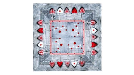 BO-MA Trading Vánoční ubrus Ozdoby látkové, 85 x 85 cm