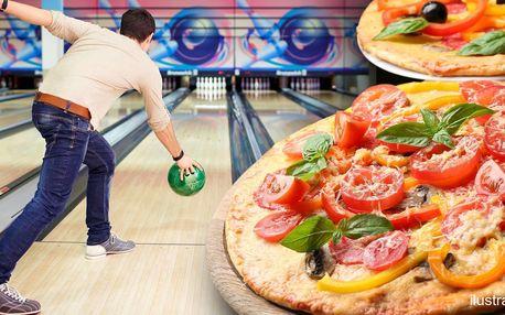 Bowling a 2 křupavé pizzy až pro 8 hráčů