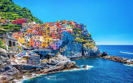 Cestování po Toskánsku s návštěvou Cinque Terre, Pisa i romantických vinic v San Gimignano, Toskánsko, Itálie