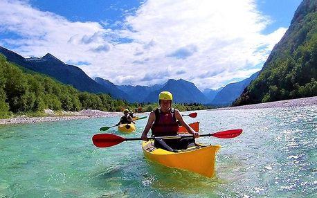 Rafting v podhůří Julských Alp s koupáním u moře, Alpy, Slovinsko