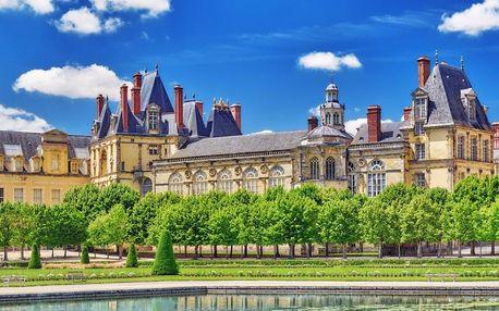 Paříž a zámky Fontainebleau, Vaux-le-Vicomte, Paříž, Francie