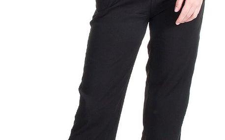 Dámské kalhoty ELEUEK s elastickým pasem černé