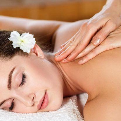 60 minut relaxační masáže dle výběru