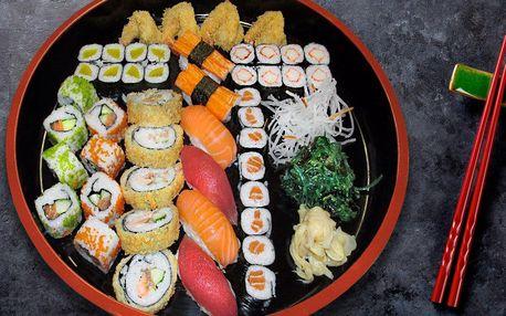 Asijská hostina: 31 nebo 47 kousků sushi