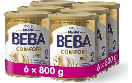 6x BEBA Comfort HMO 2 (800 g) – kojenecké mléko