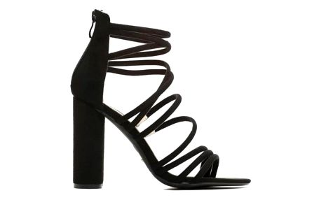 Dámské černé sandály na podpatku Chica 1445