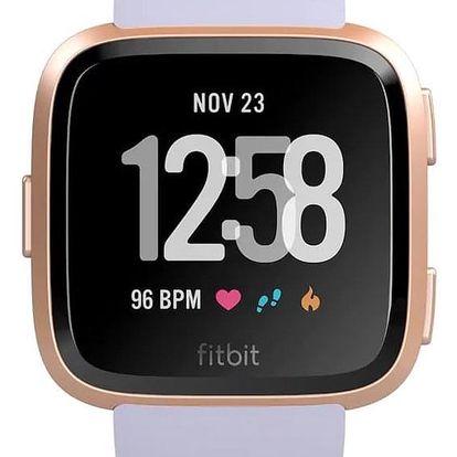 Chytré hodinky Fitbit Versa (NFC) - Rose Gold / Periwinkle (FB505RGABLV-EU)