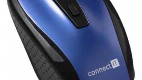 Connect IT bezdrátová optická myš, modrá (CI-1225) - ★ Dodatečná sleva v košíku 15 %