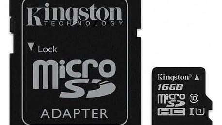 Kingston Micro SDHC Canvas Select 16GB + SD adaptér SDCS/16GB - ★ Dodatečná sleva v košíku 15 %