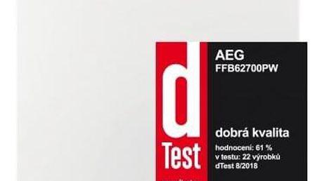 Volně stojící myčka nádobí AEG FFB 62700 PM, A++,60cm,15 sad - ★ Dodatečná sleva v košíku 15 %