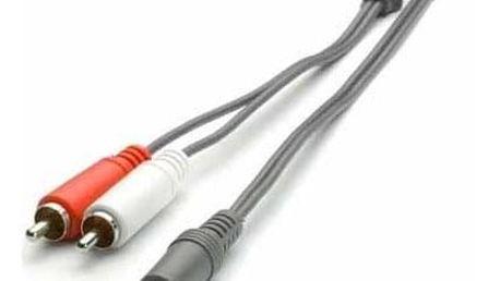 Audio kabel vivanco V30191 1x Jack / 2x Cinch 5m - ★ Dodatečná sleva v košíku 10 %