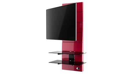 Držák televize MELICONI GHOST, VESA max 400x400, 30kg, červený