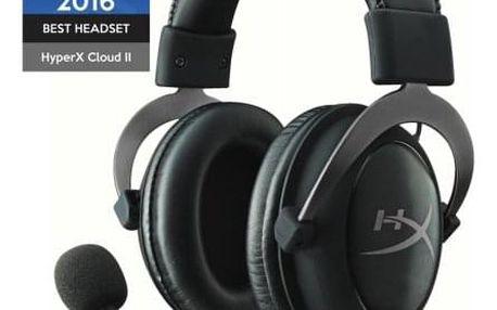 Headset HyperX Cloud II (KHX-HSCP-GM) černý - ★ Dodatečná sleva v košíku 15 %