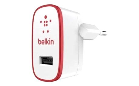 Nabíječka Belkin 1xUSB 2,1A, bílá/červená - ★ Dodatečná sleva v košíku 15 %